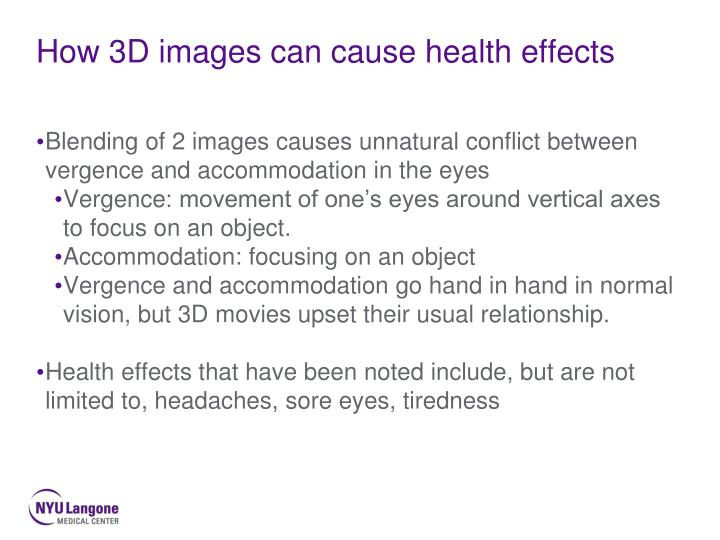 How 3D images can cause health effects