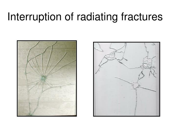Interruption of radiating fractures