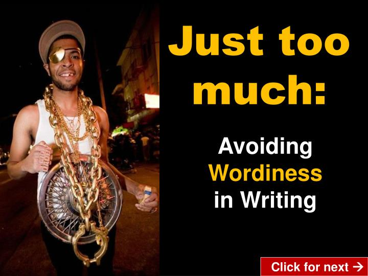 wordiness in writing