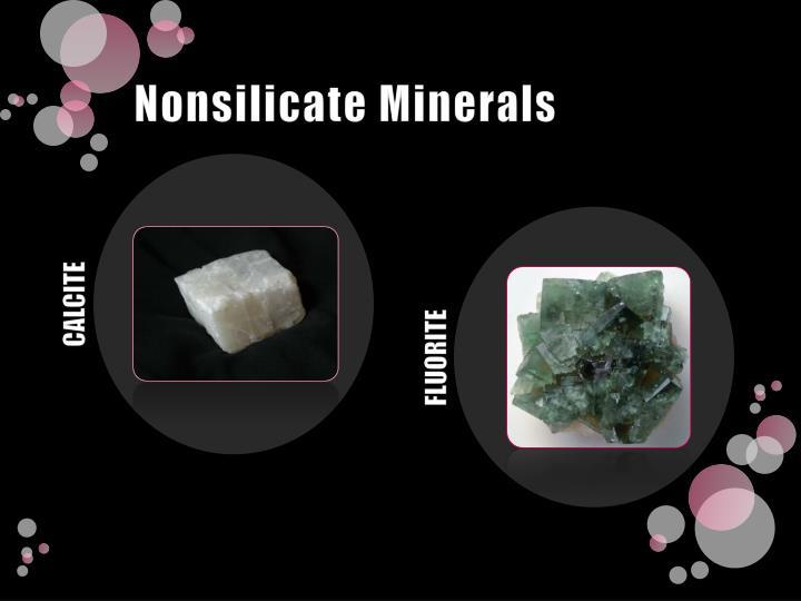 Nonsilicate Minerals