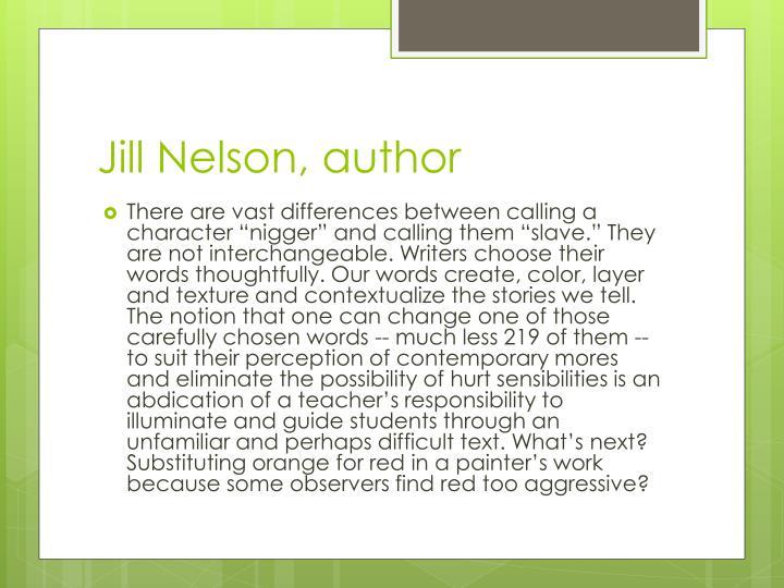 Jill Nelson, author