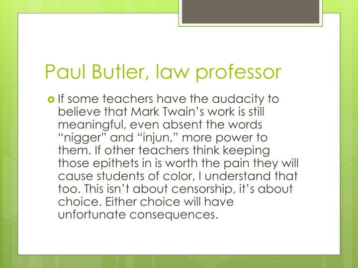 Paul Butler, law professor
