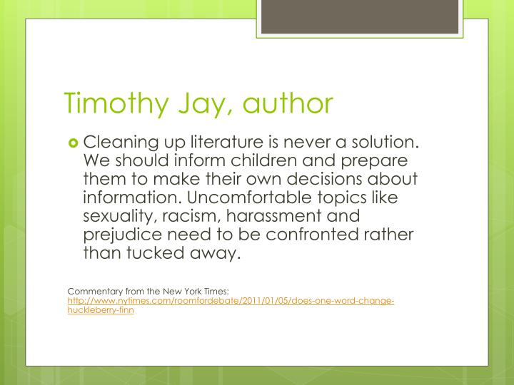 Timothy Jay, author