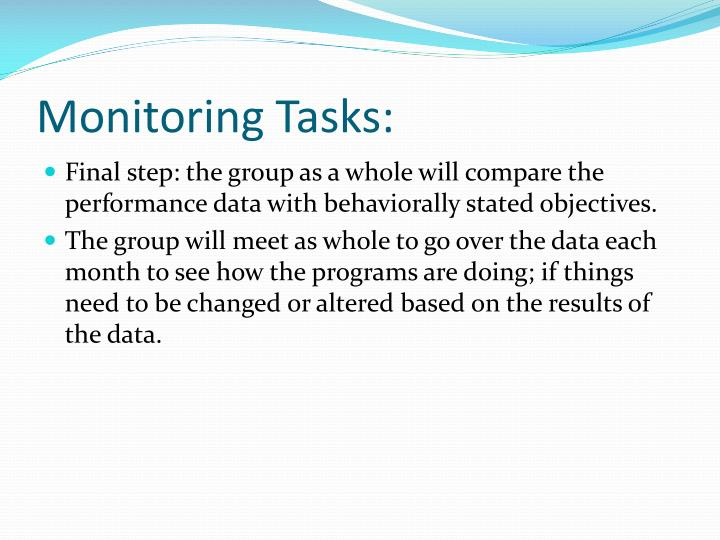 Monitoring Tasks: