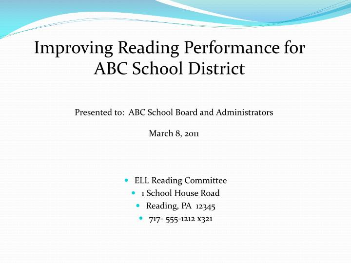 Improving Reading Performance for