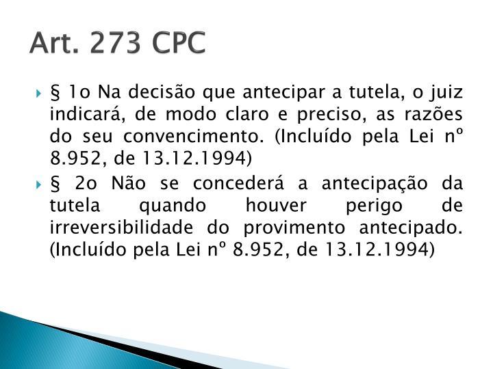 Art. 273 CPC