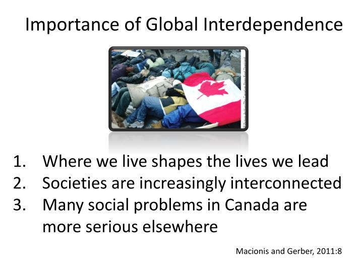 Importance of global interdependence