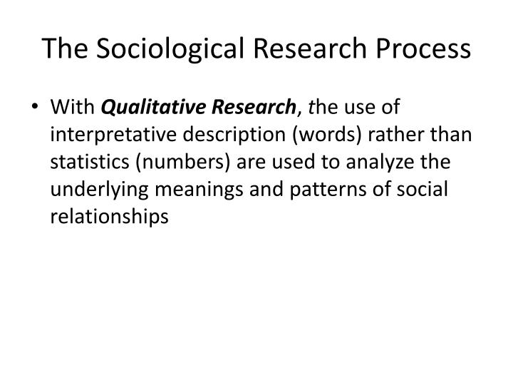 The Sociological Research Process