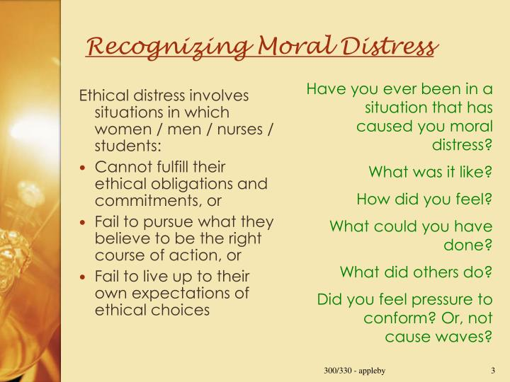 Recognizing Moral Distress