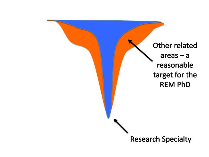 Other related areas – a reasonable target for the REM PhD