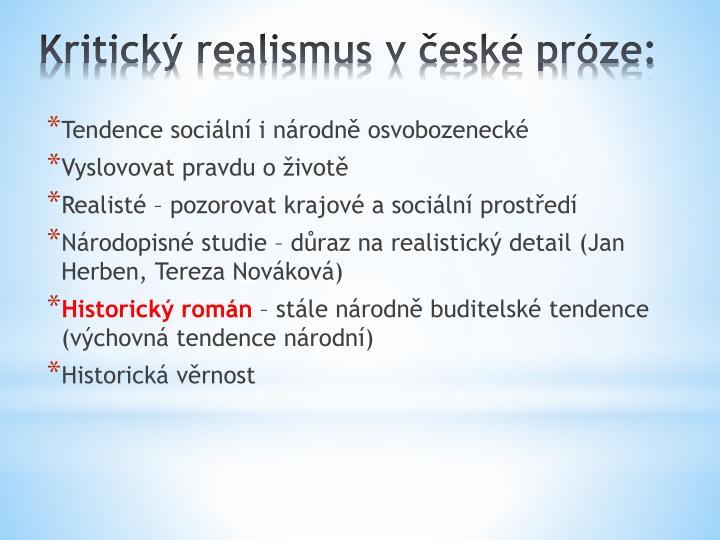 Tendence sociální i národně osvobozenecké