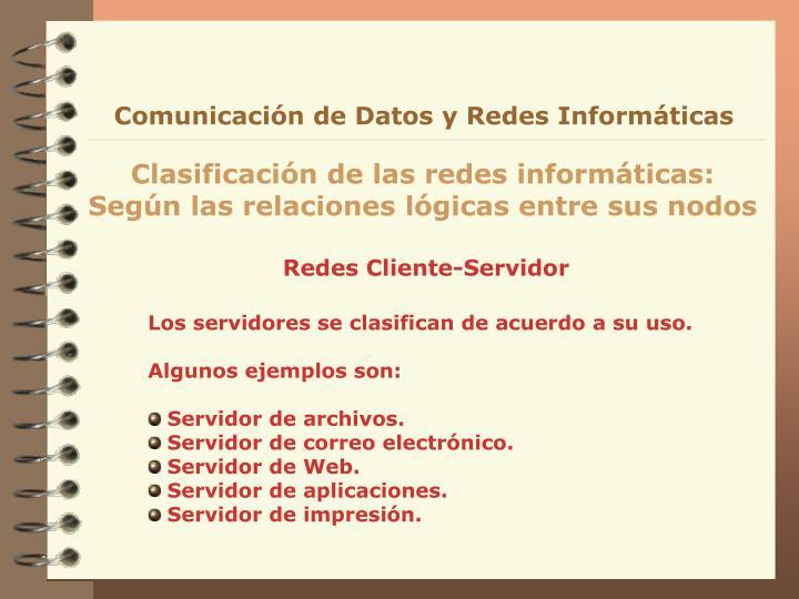 Comunicación de Datos y Redes Informáticas