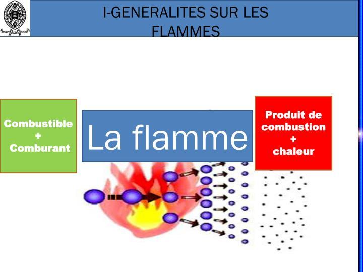 I-GENERALITES SUR LES FLAMMES