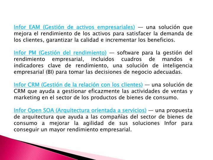 Infor EAM (Gestión de activos empresariales)