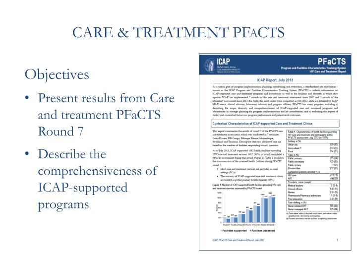 CARE & TREATMENT PFaCTS