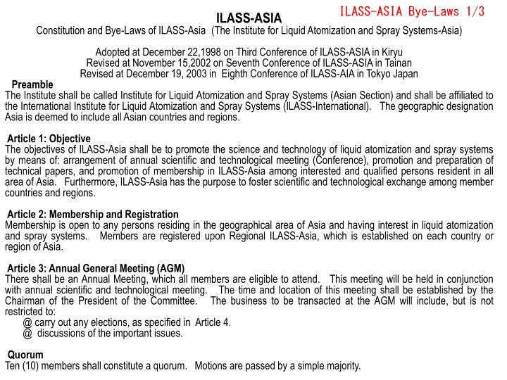 Ilass asia bye laws 1 3