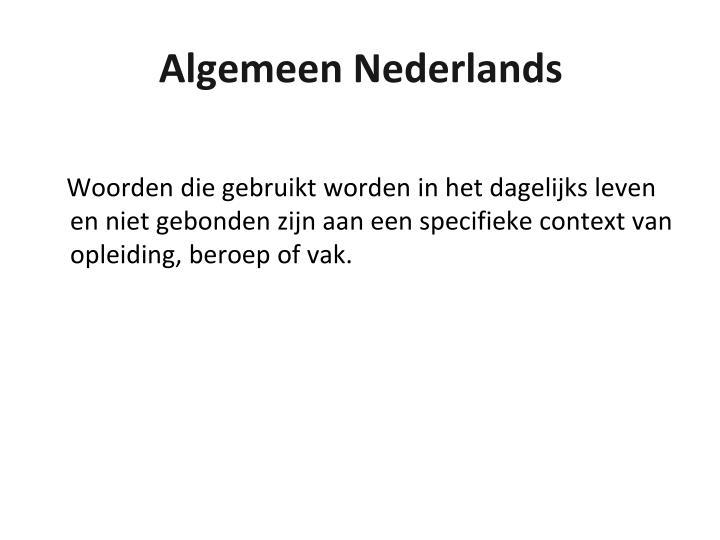 Algemeen Nederlands
