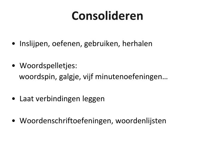 Consolideren
