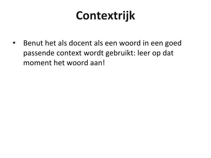Contextrijk