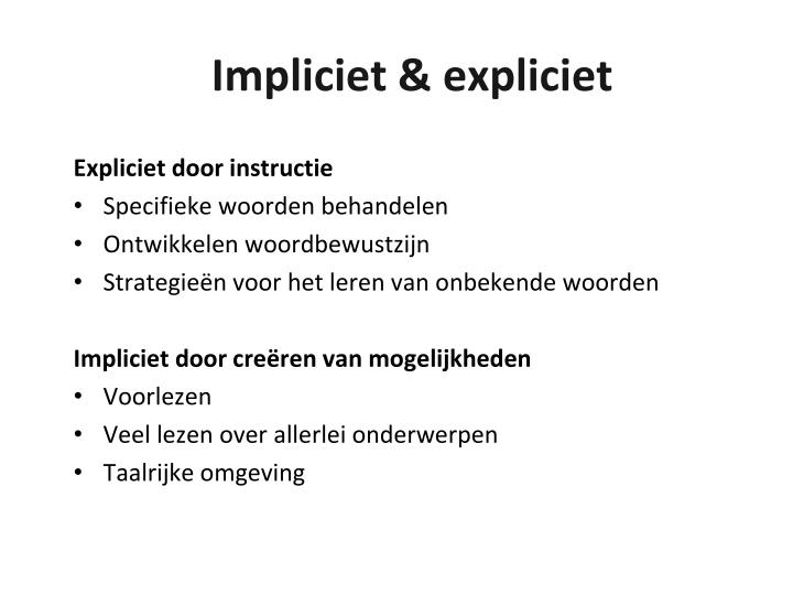 Expliciet door instructie