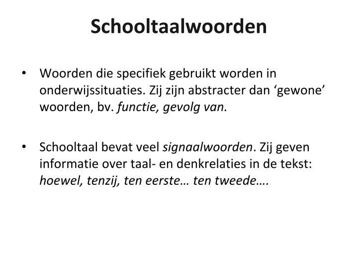 Schooltaalwoorden