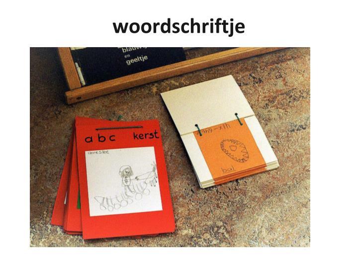 woordschriftje