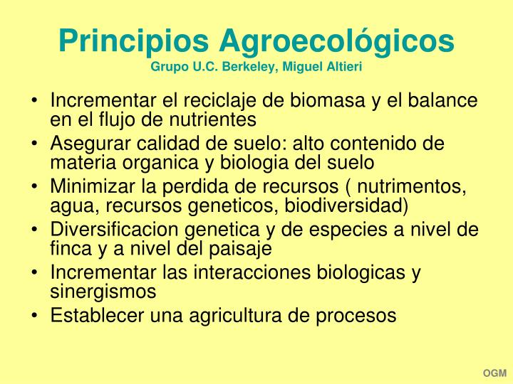 Principios Agroecológicos