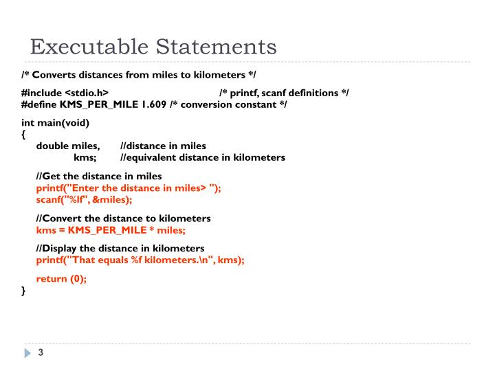 Executable Statements