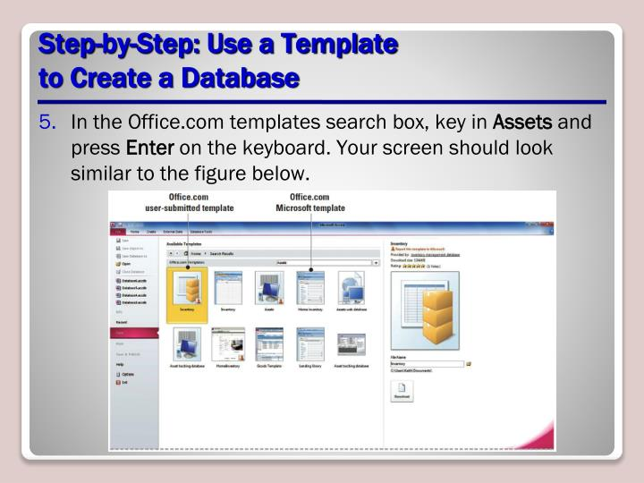 Step-by-Step: Use a Template