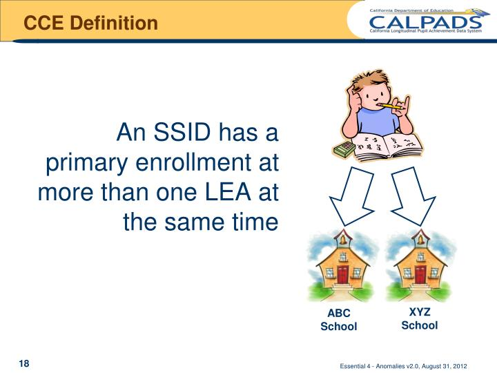 CCE Definition