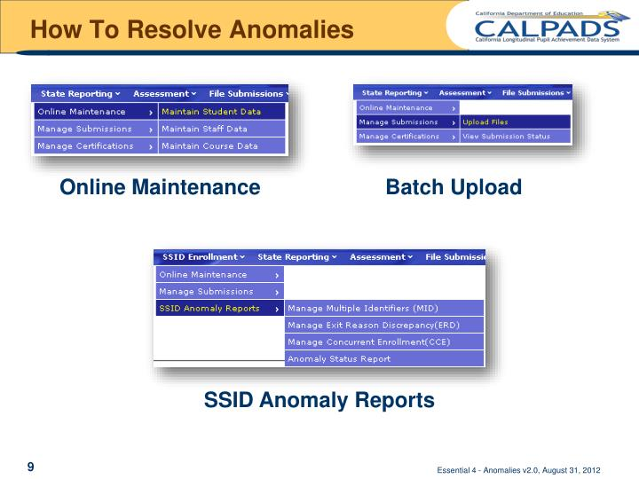 How To Resolve Anomalies