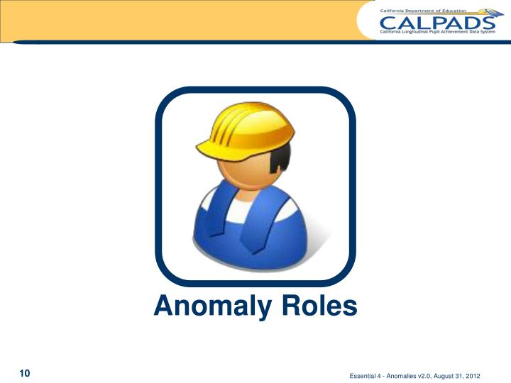 Anomaly Roles