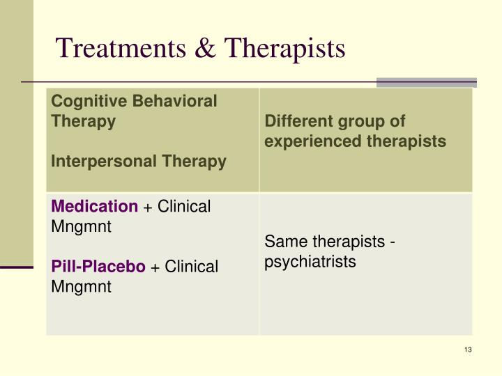 Treatments & Therapists