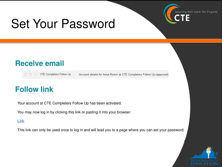 Set Your Password