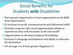 social benefits for students with disabilities