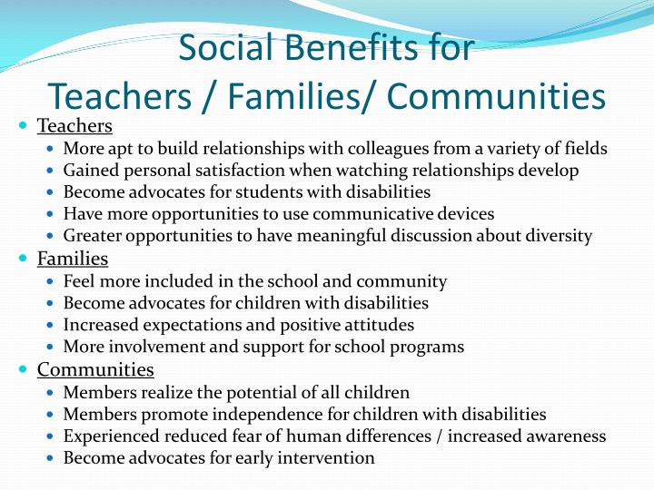 Social Benefits for