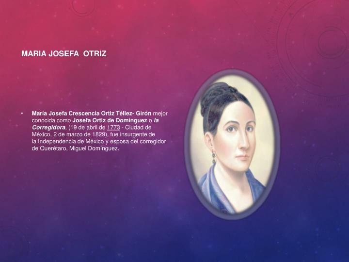 Maria JOSEFA  OTRIZ