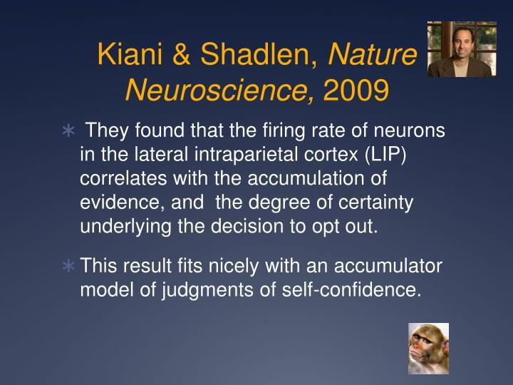 Kiani & Shadlen,
