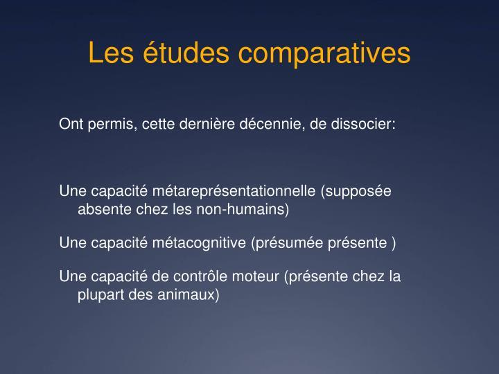 Les études comparatives