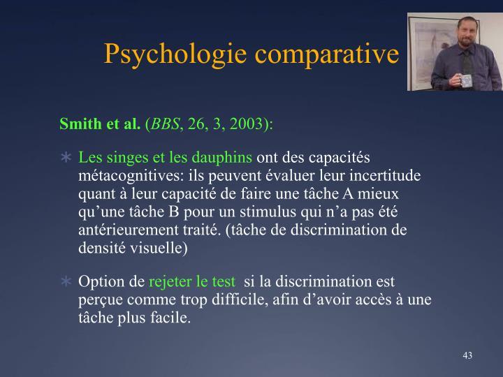 Psychologie comparative