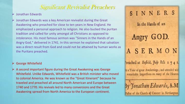 Significant Revivalist Preachers