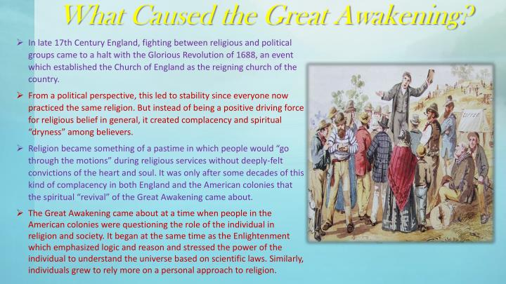 What Caused the Great Awakening?