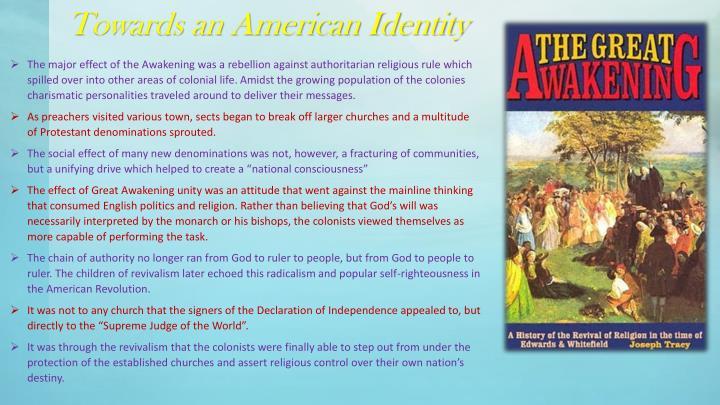 Towards an American Identity