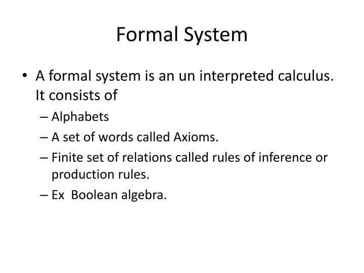 Formal System