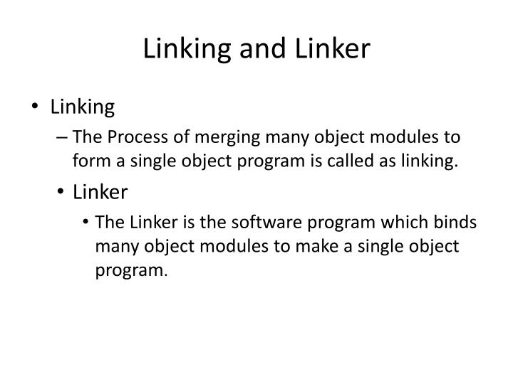 Linking and Linker