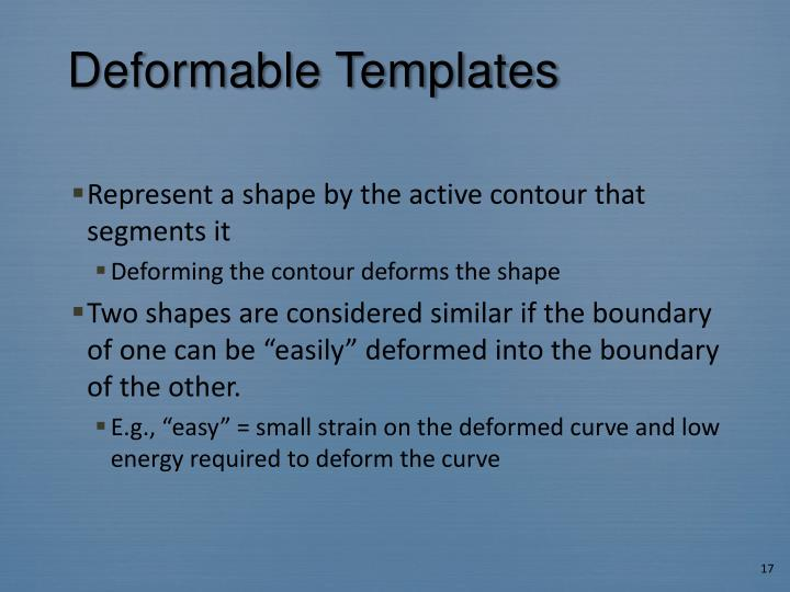Deformable Templates
