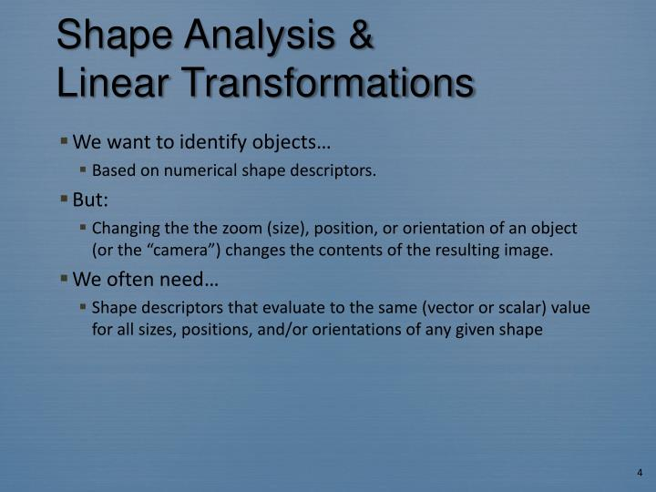 Shape Analysis &