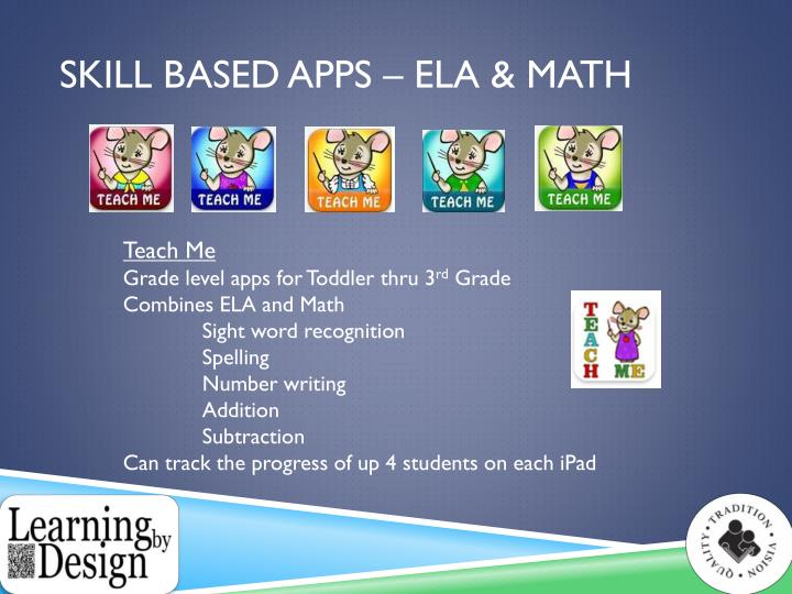 Skill Based apps – Ela & Math
