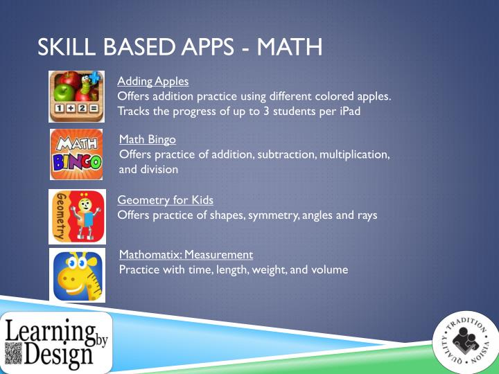 Skill Based Apps - Math