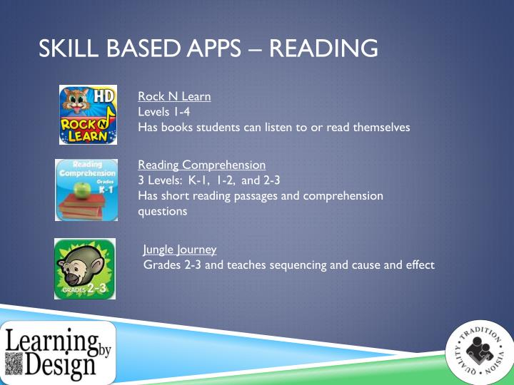 Skill Based apps – Reading
